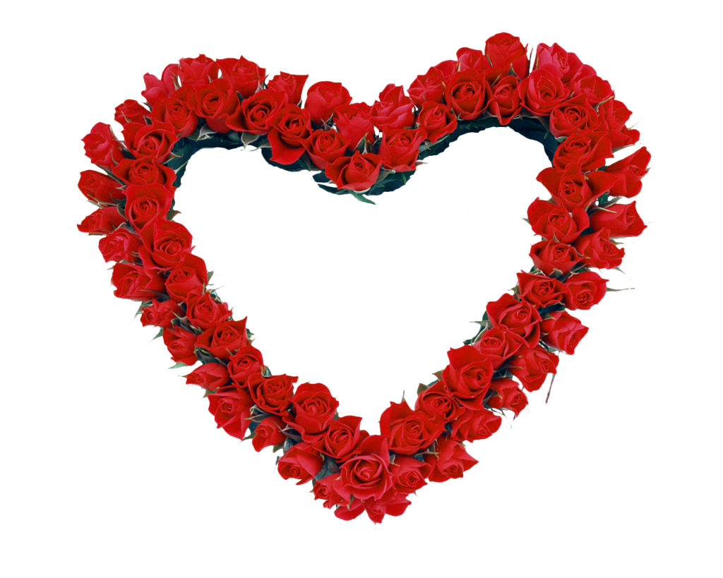 Hearts frame png. Red heart roses transparent