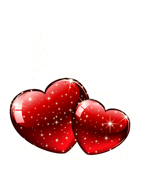 Hearts .png. Valentine shining png clipart
