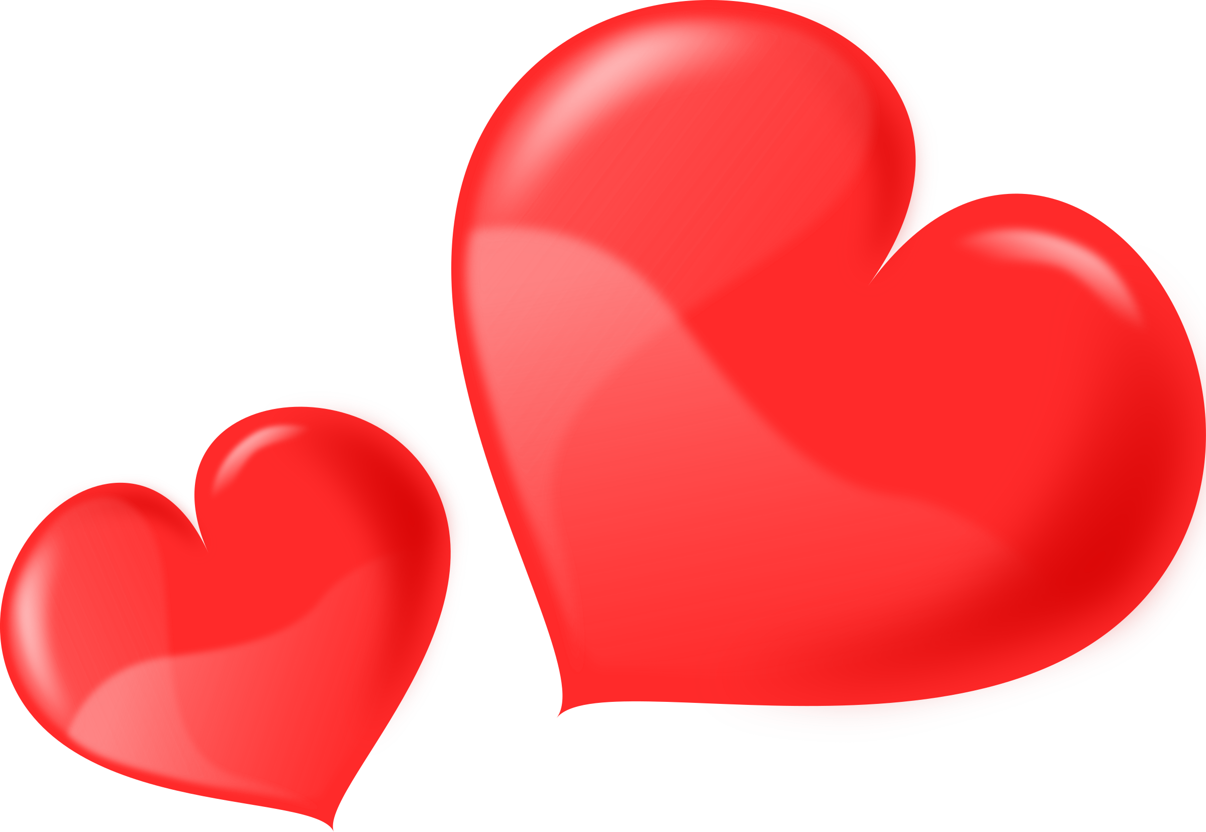 Love vector png. Heart glossy two icons