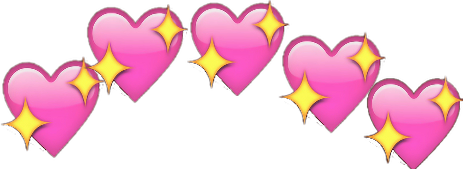 Hearts png images. Heart lights star emoji