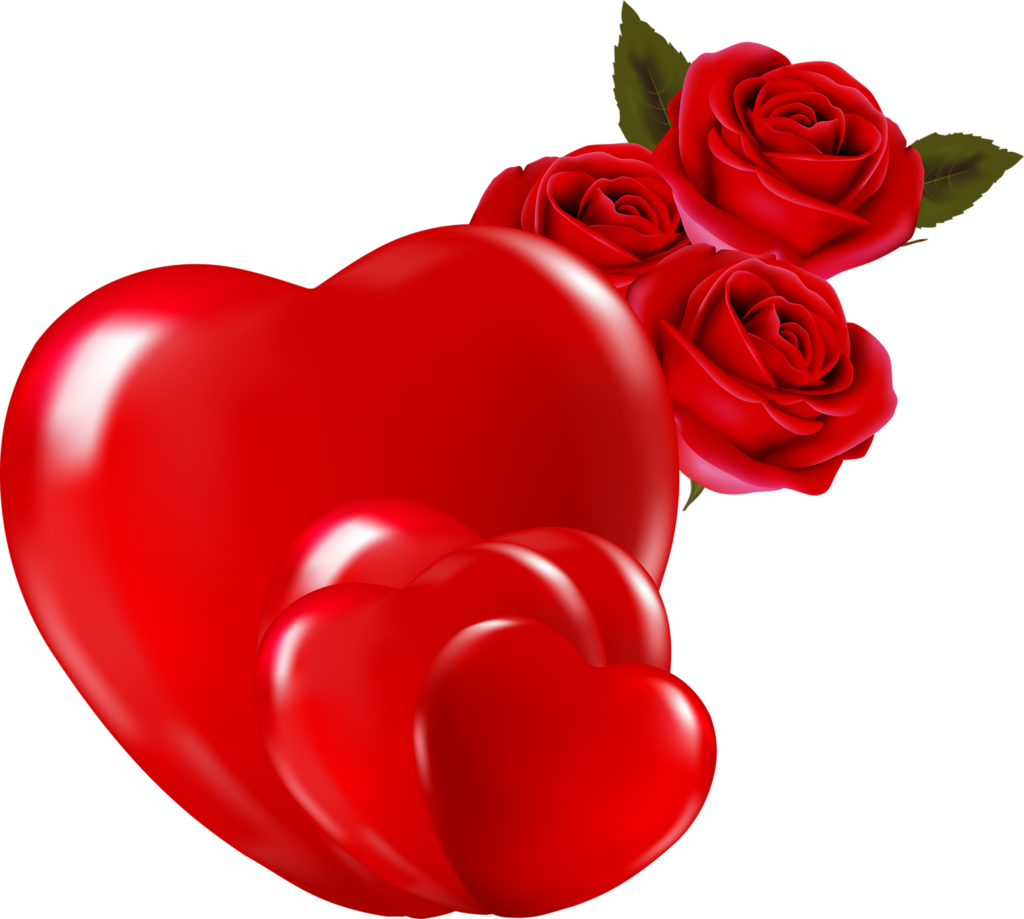 Hearts .png. Valentine rose with png