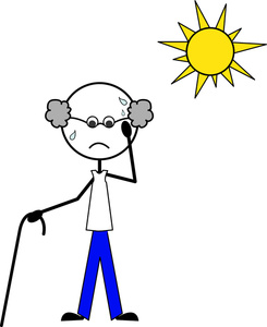 Heat clipart hot person. Free image weather old