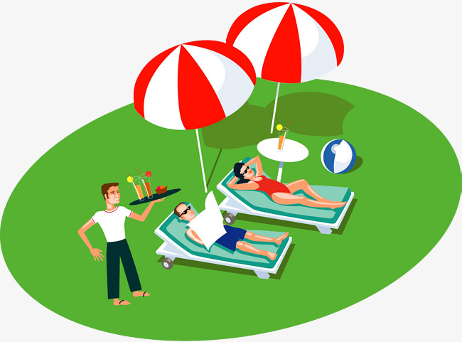 Heat clipart hot person. A resting on the