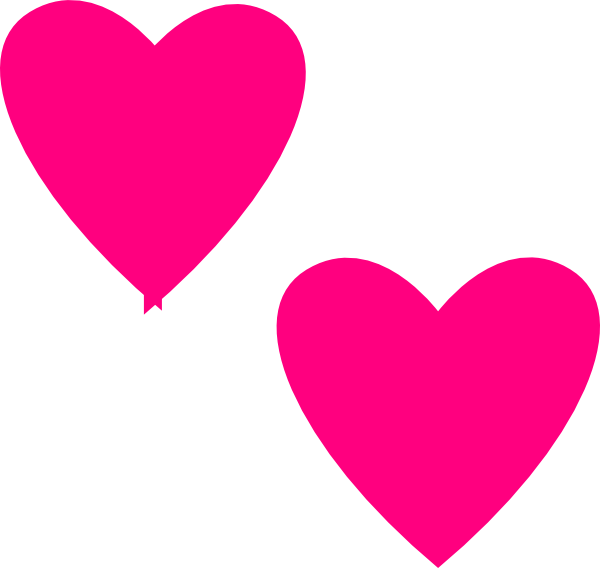 Heat clipart pink double heart. Free on