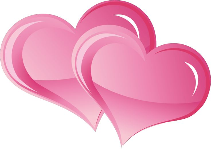 Heat clipart pink double heart. Best hearts images