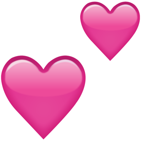 Heat clipart pink double heart. What all the emoji