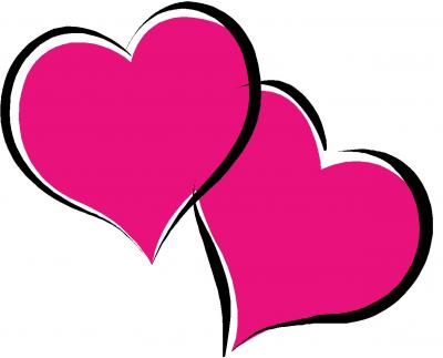 heat clipart pink double heart