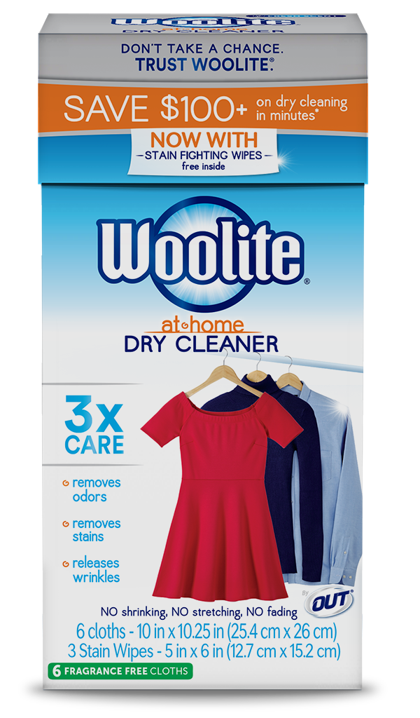 Heat vector scent. Woolite at home dry