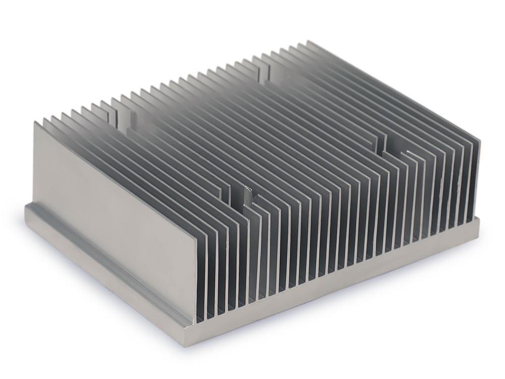 Heatsink clip square. Thermo cool machined extruded