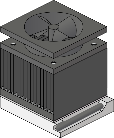heatsink clip fan