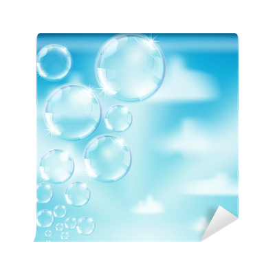 Heaven background png. Soap bubbles on wall