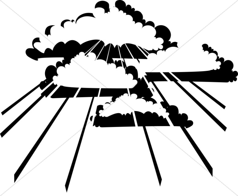 Cloud clipart black and white. Clouds ascension day