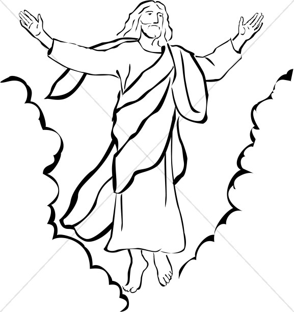 Heaven clipart ascension lord. Of our christian day