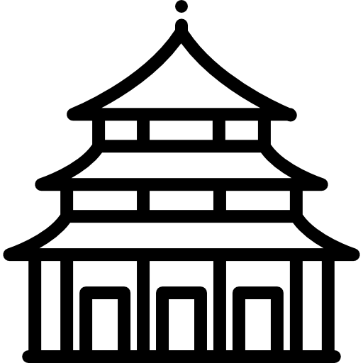 Heaven vector background. Temple of icons free