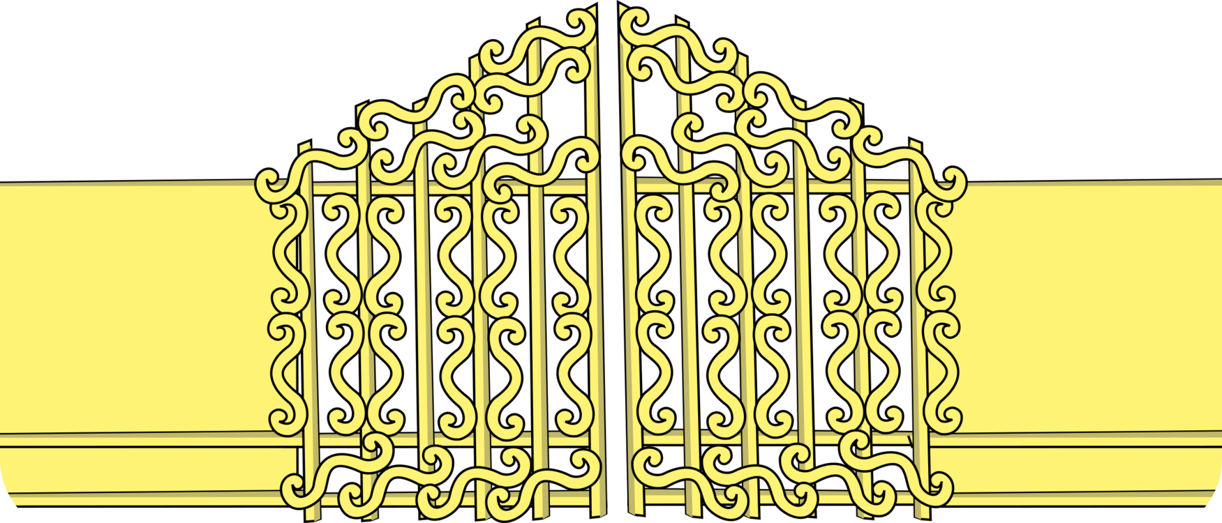 Heaven vector golden. Pearly gates computer icons
