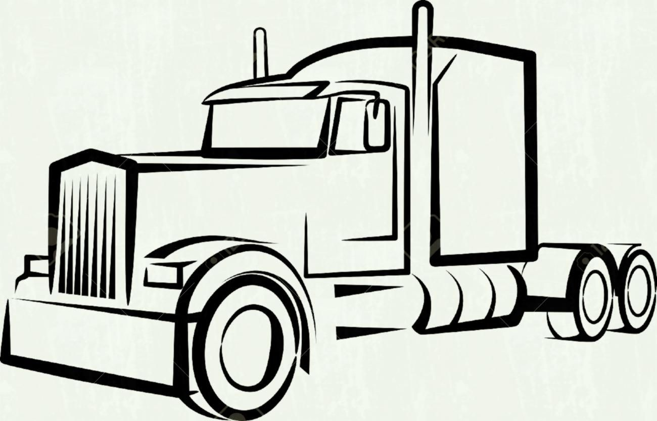 Heavy truck. Clipart illustration by dennis