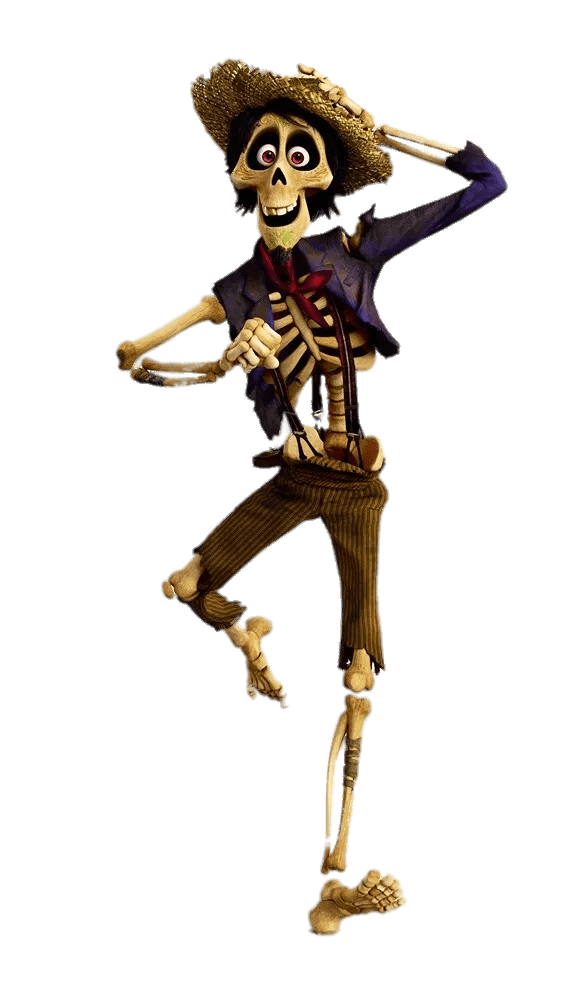 Hector coco png. Dancing transparent stickpng download