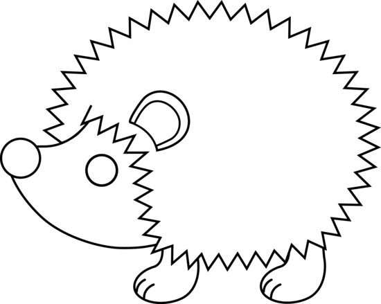 Hedgehog clipart hedgehog outline. Black and white