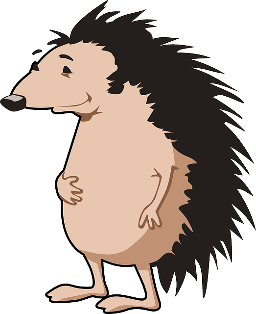 Hedgehog clipart adorable cartoon. Facts for kids cool