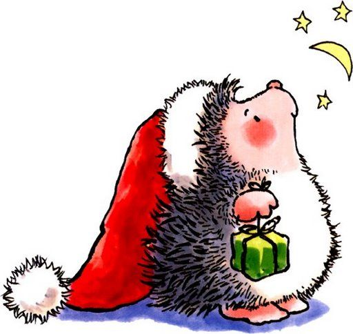Hedgehog clipart christmas. Best nadal images