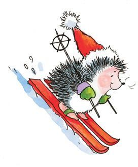 Hedgehog clipart christmas. Pin by donna lee