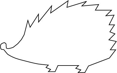 Hedgehog clipart hedgehog outline. Jpg pixels dessin pinterest