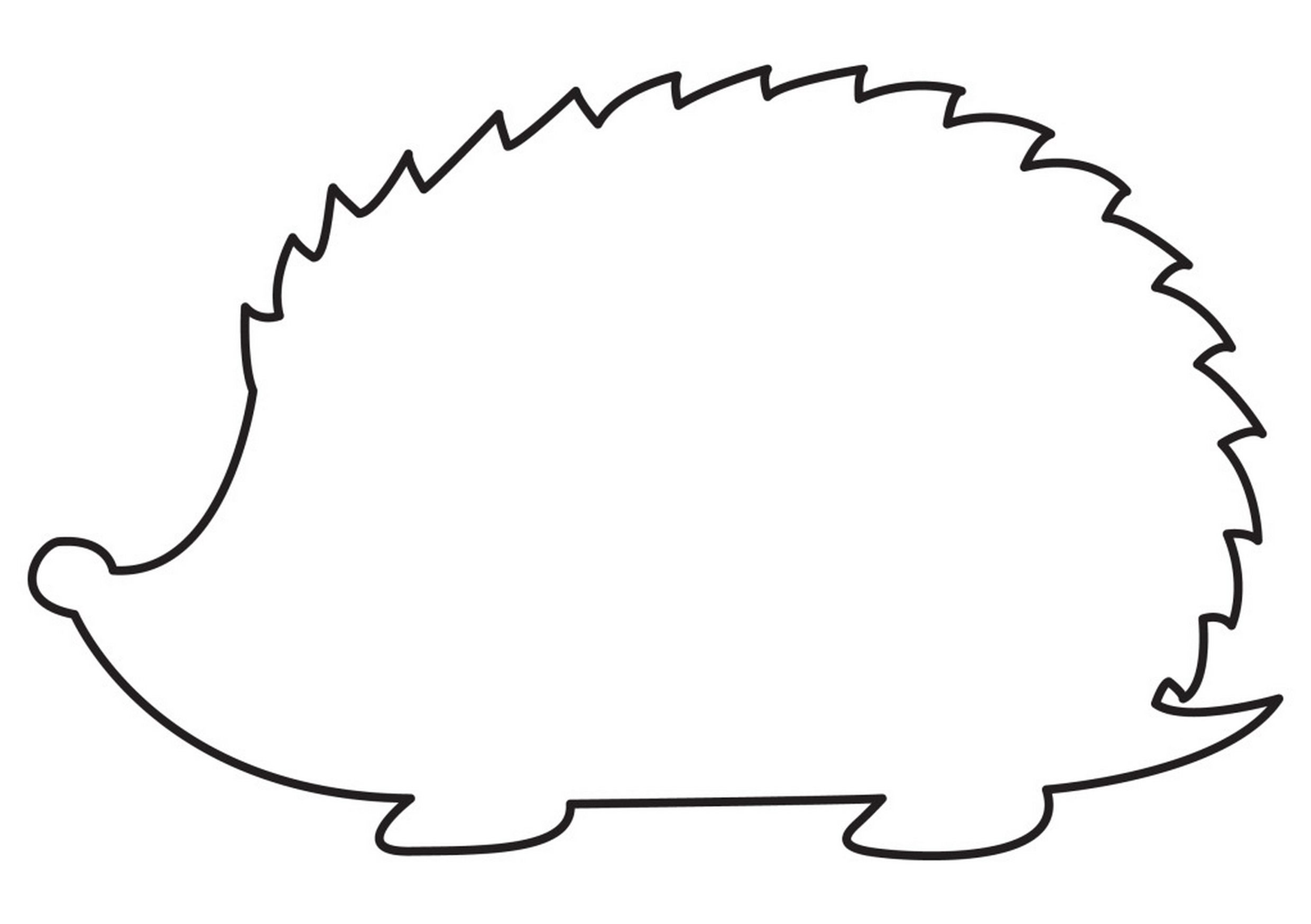 Hedgehog clipart hedgehog outline. How to sketch a