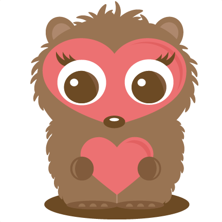 Hedgehog clipart baby hedgehog. Holding heart svg file