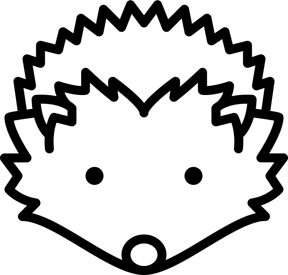Hedgehog svg baby. Head png icon free