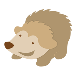 Hedgehog svg adorable cartoon. File craft gossip how