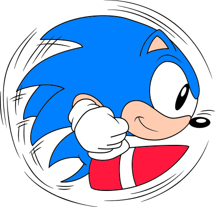 Hedgehog svg animated. File classic sonic roll