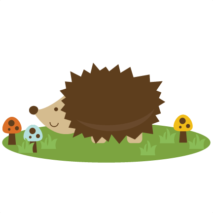 Hedgehog svg kawaii. Cute file for scrapbooking