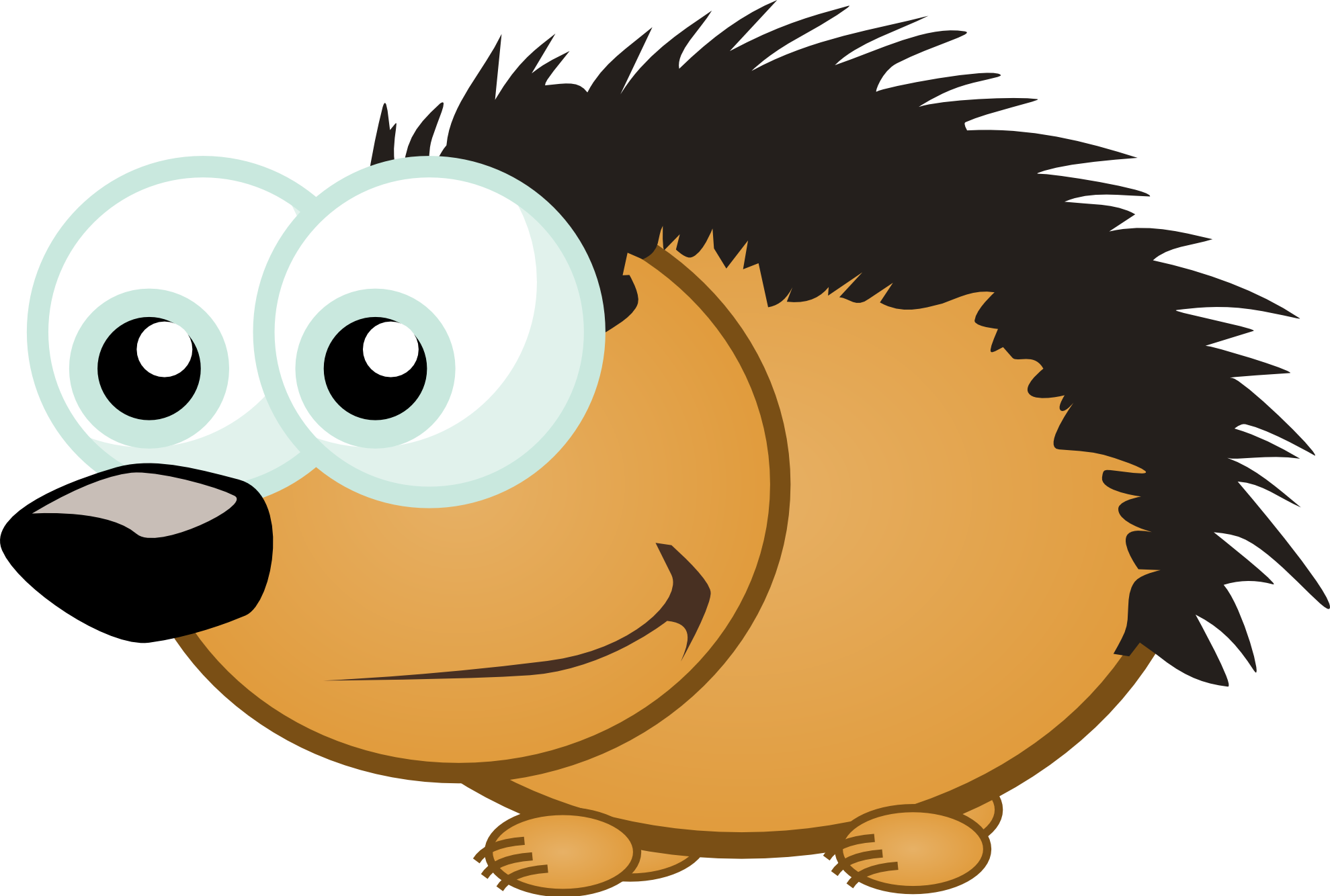 Hedgehog svg animated. Clipartist net clip art