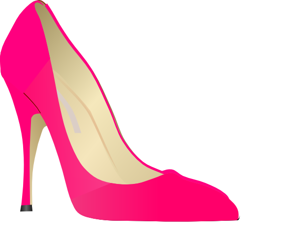 Heel clip. Pink high heels art