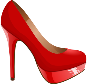 Heel clip heels clipart. Red high art at