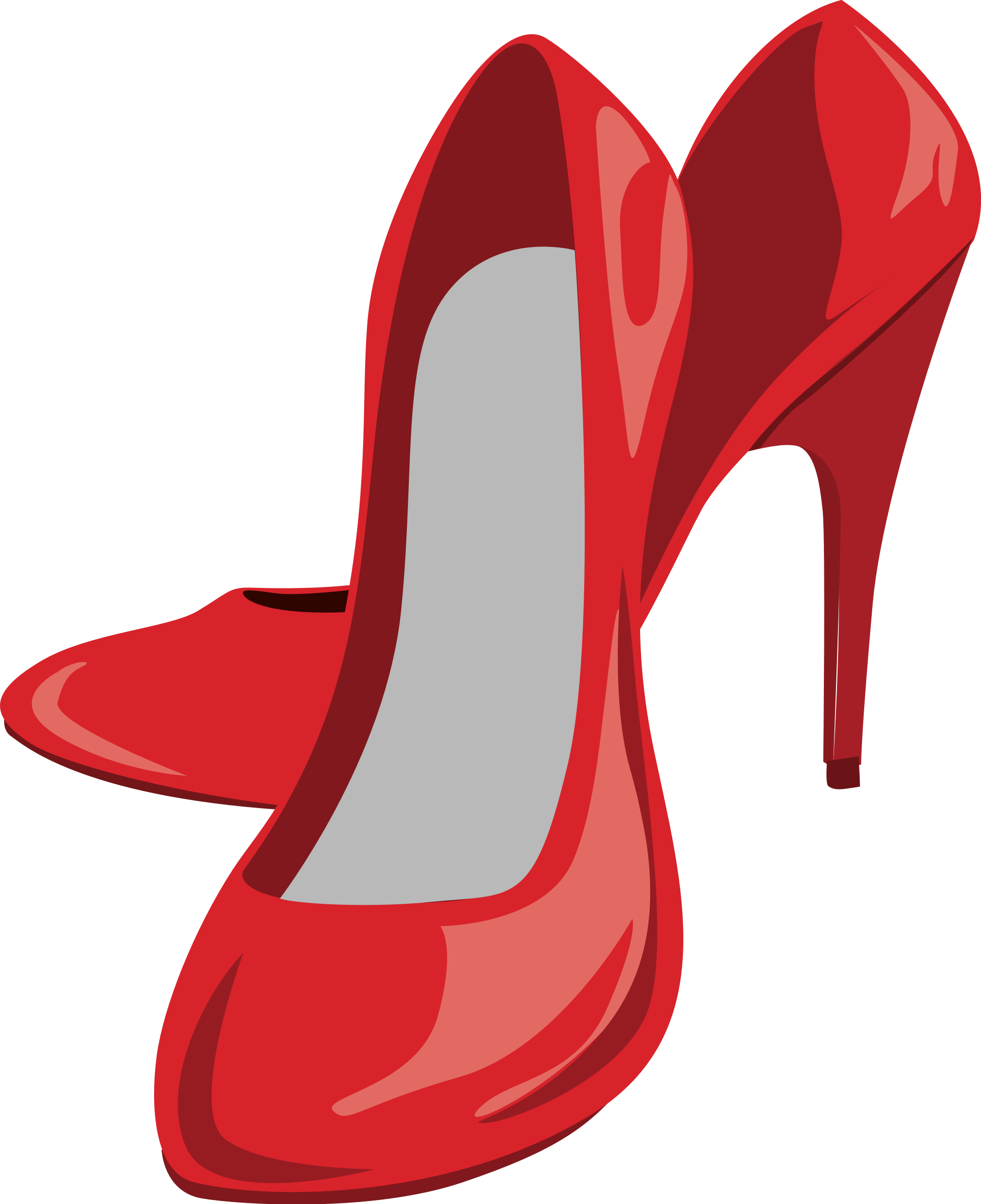 Heel clip illustration. High shoes icons png