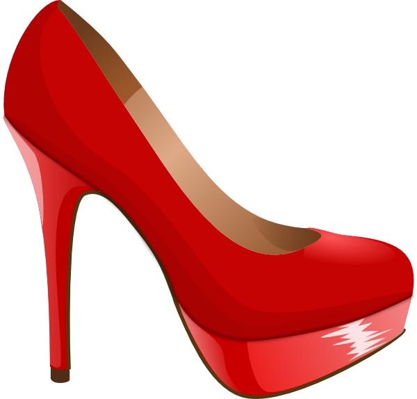 High heel clipart pretty shoe. Svg red clip art