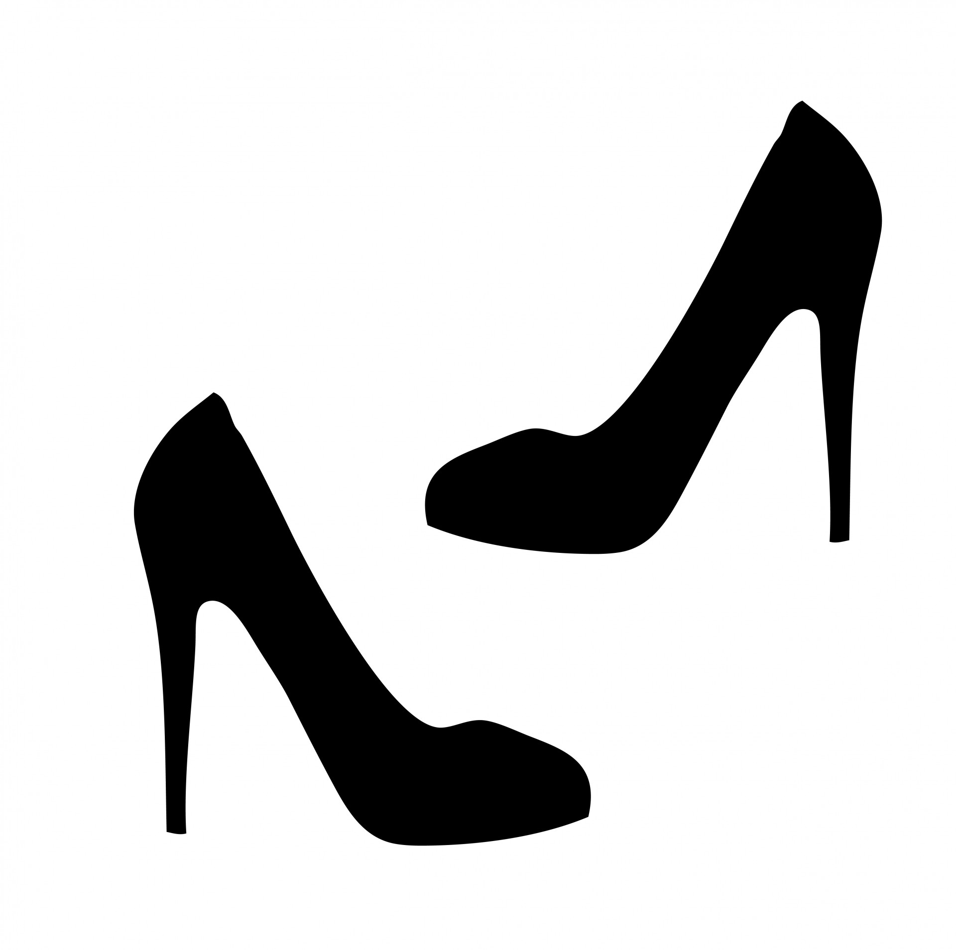 Heels clipart stilleto. Stiletto silhouette at getdrawings