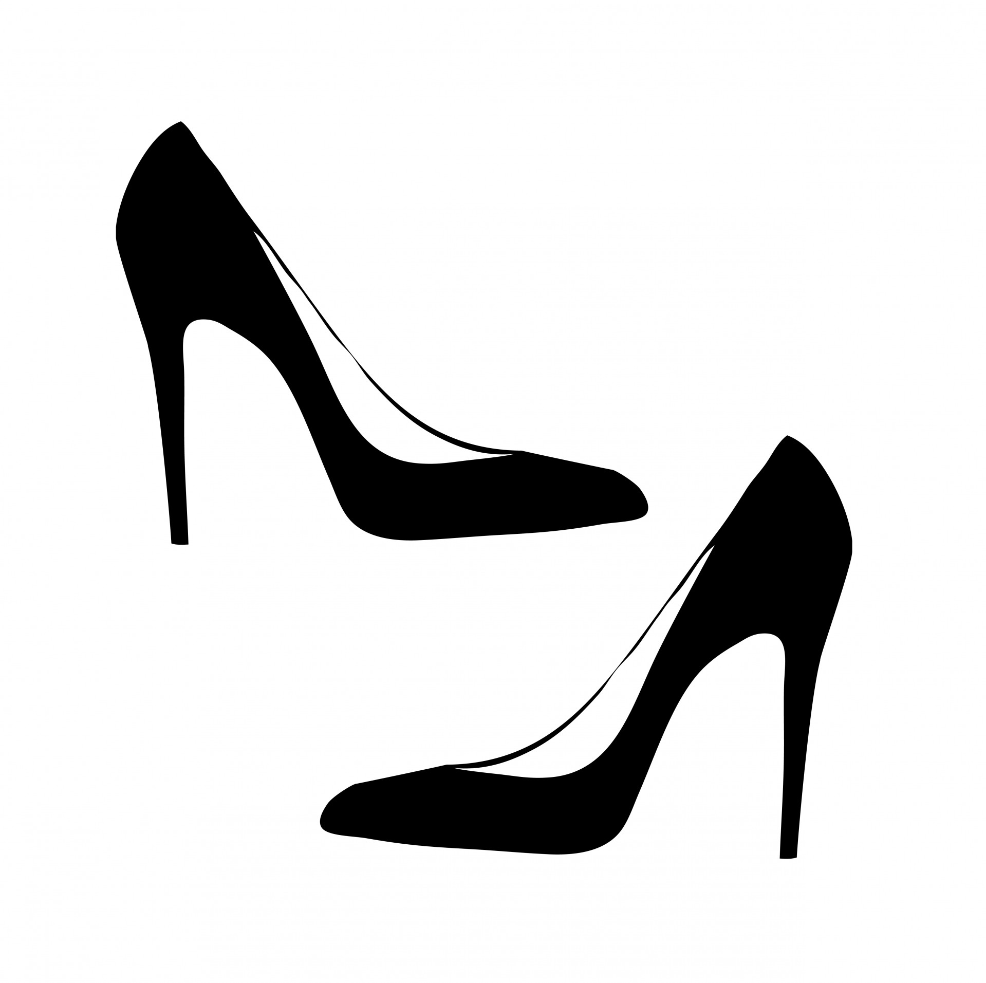 high heel clipart lady shoe