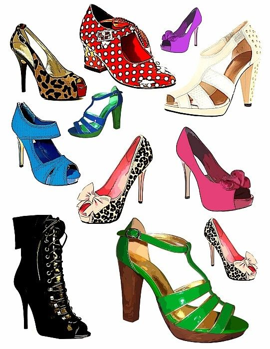 Heels clipart woman shoe. Pair of shoes drawing