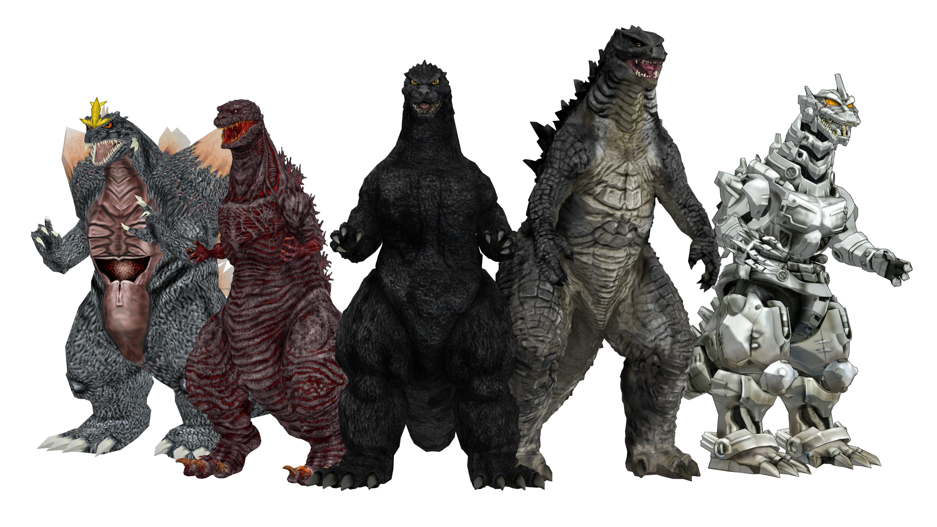 Heisei godzilla png. G and the agents