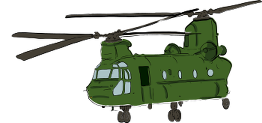 Helicopter clipart air vehicle. Double rotor military