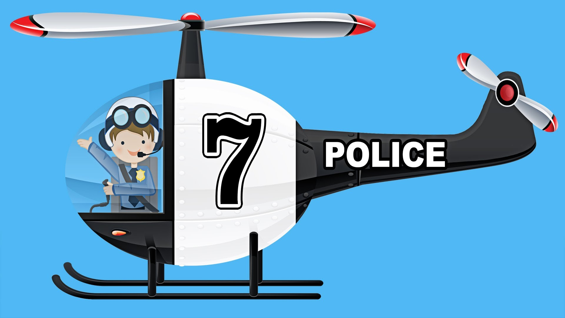 Helicopter clipart green helicopter. Police helicopters teaching numbers