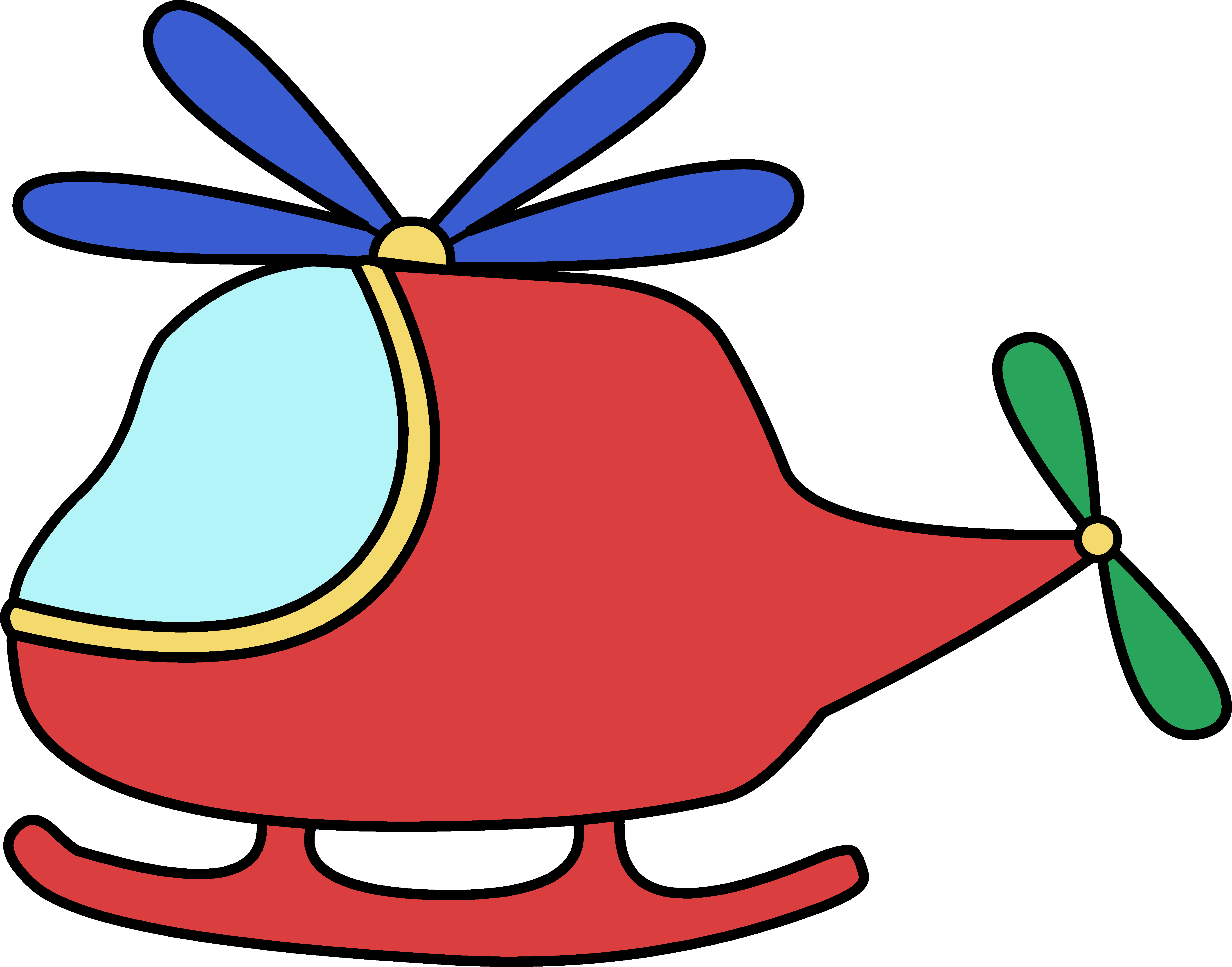 Cartoon helicopter png. Free graphics download clip