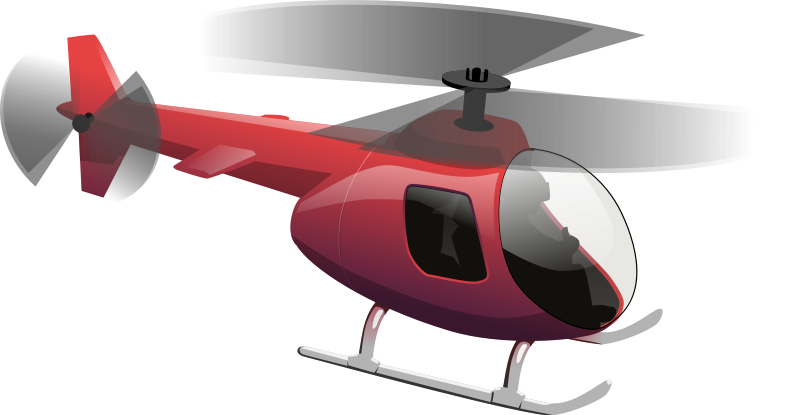 helicopter clipart red helicopter