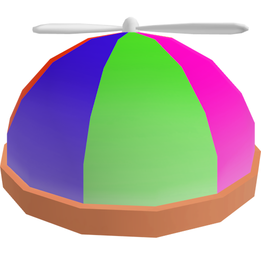 Helicopter hat png. Neon brickplanet