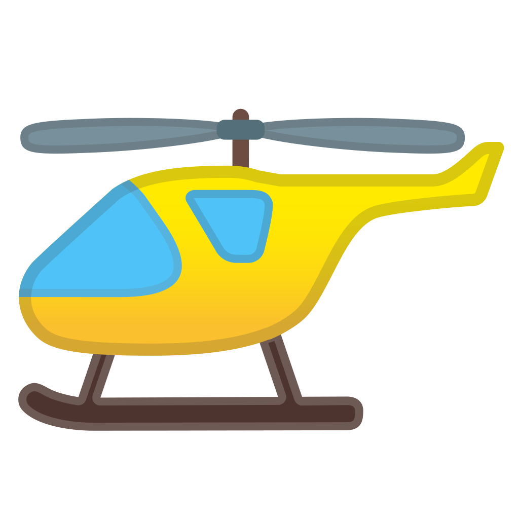 Helicopter icon png. Noto emoji travel places