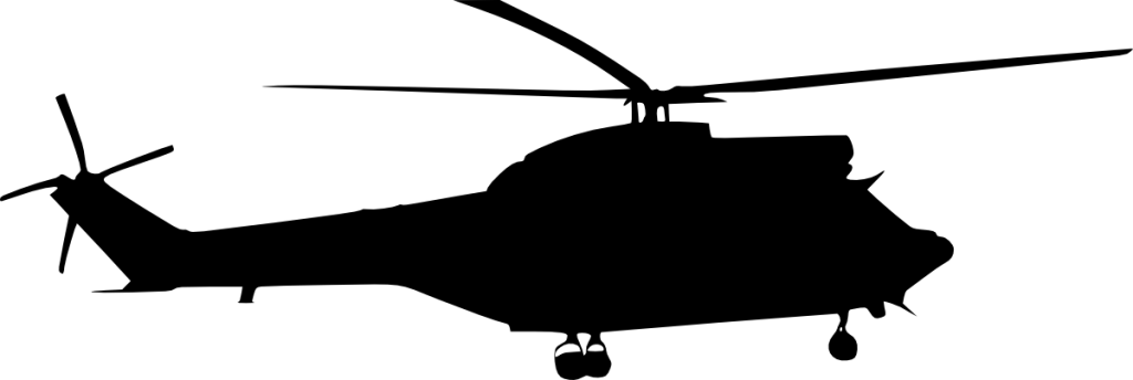 Helicopter vector png. Silhouette side view
