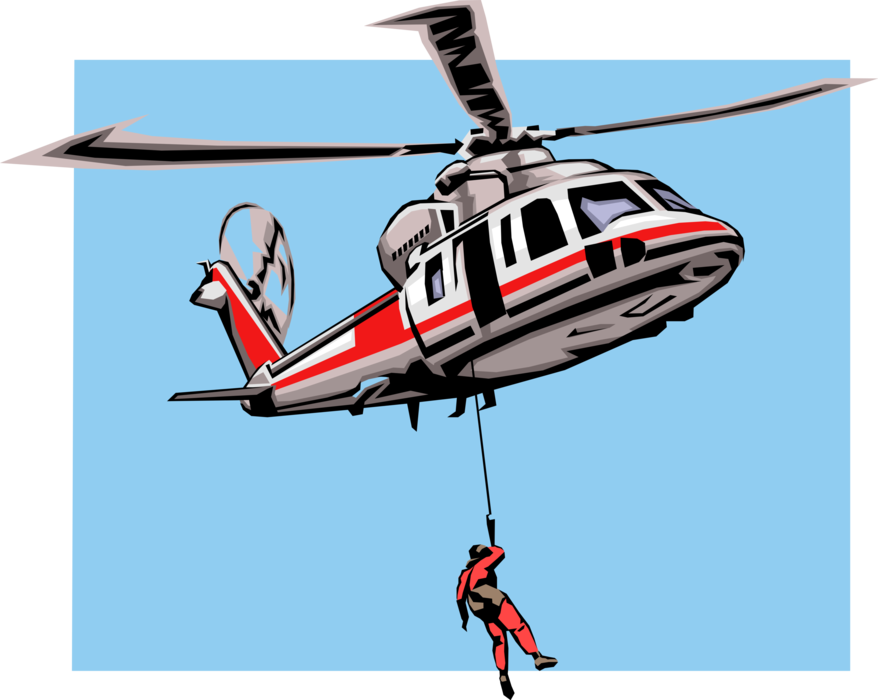 Helicopter vector png. Search and rescue image