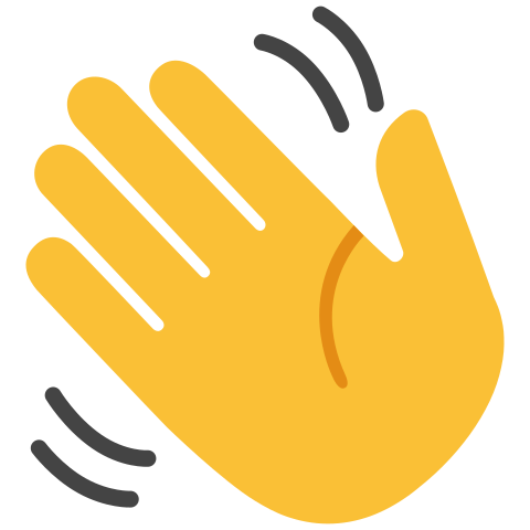 Hello clipart wave hand. Png images